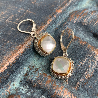 Indiri Fair Trade Mother of Pearl Earrings - BEACH TREASURES ONLINE