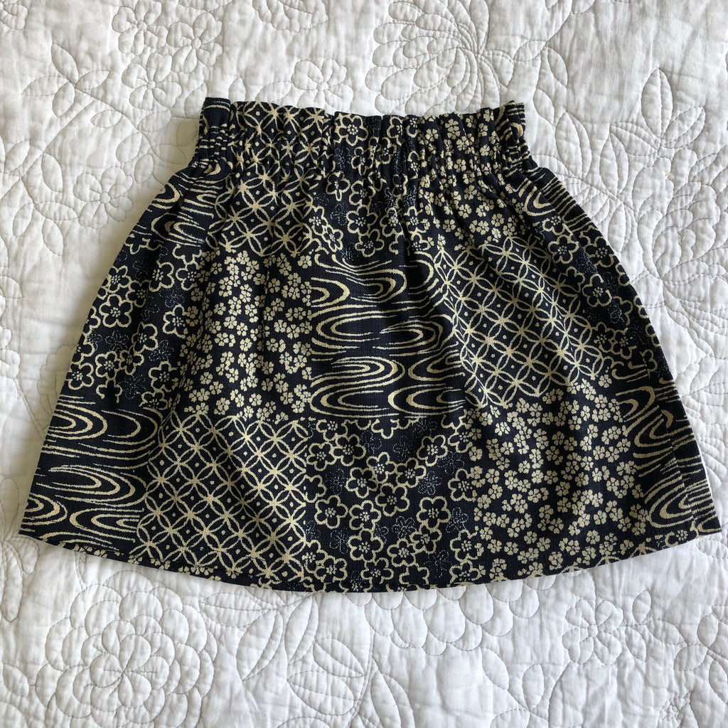 Anna Skirt - Navy Japanese Linen