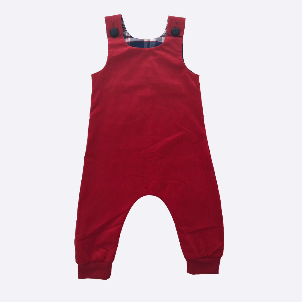 Teddy Overalls - Red Cord