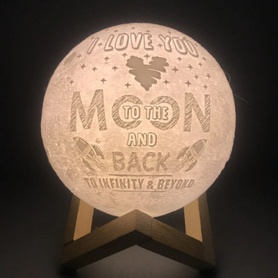 Pesonalize 3D-Print Moon Lamp