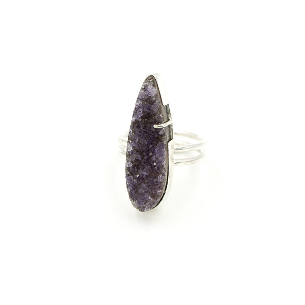 Amethyst Druzy Ring by Rockhaus Metals