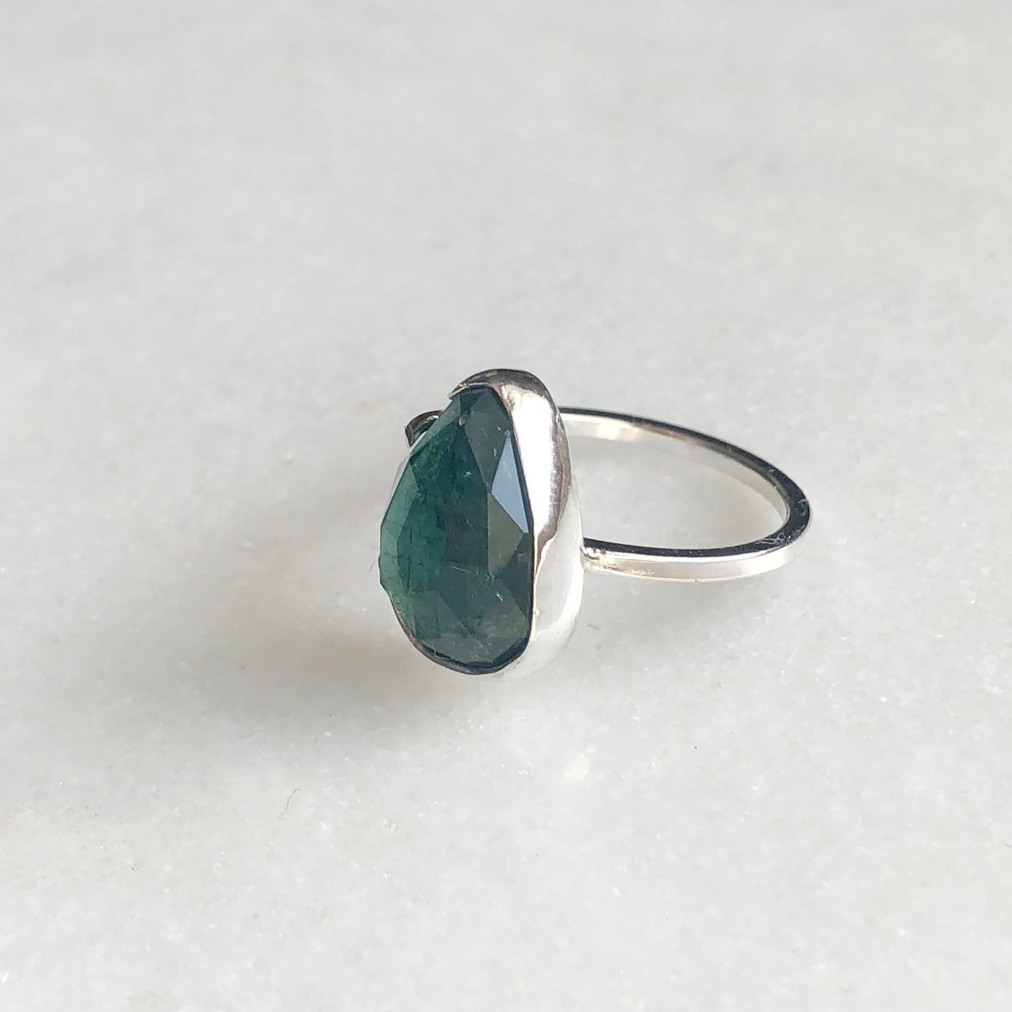 Dark Green Tourmaline Ring by Rockhaus Metals