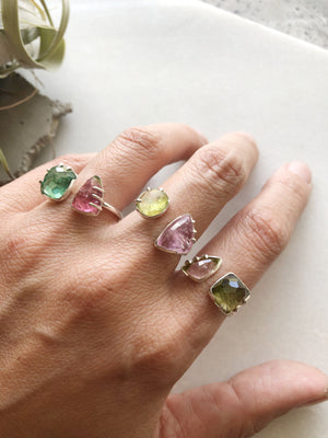 Double Stone Tourmaline Ring by Rockhaus Metals