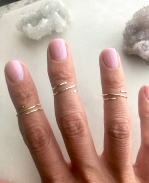 Wrap Midi Rings by Rockhaus Metals