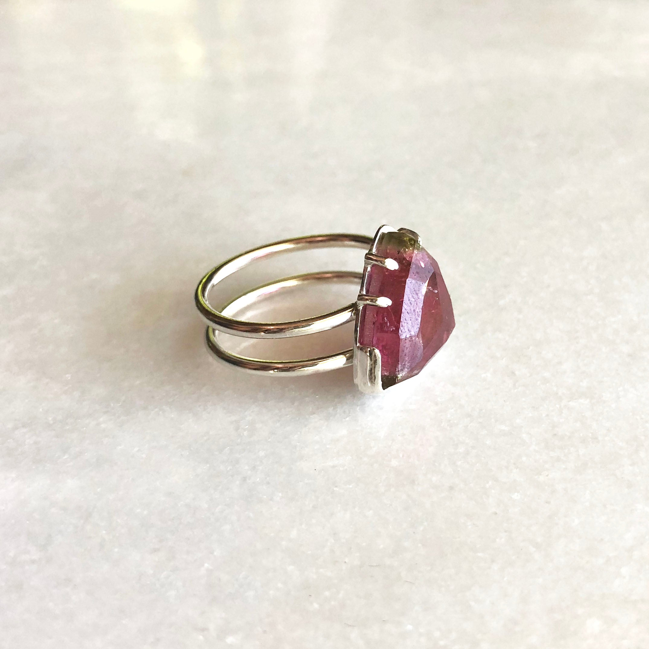 Watermelon Tourmaline Ring by Rockhaus Metals