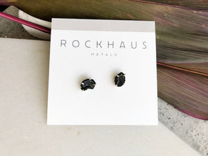 Mini Geode Studs by Rockhaus Metals