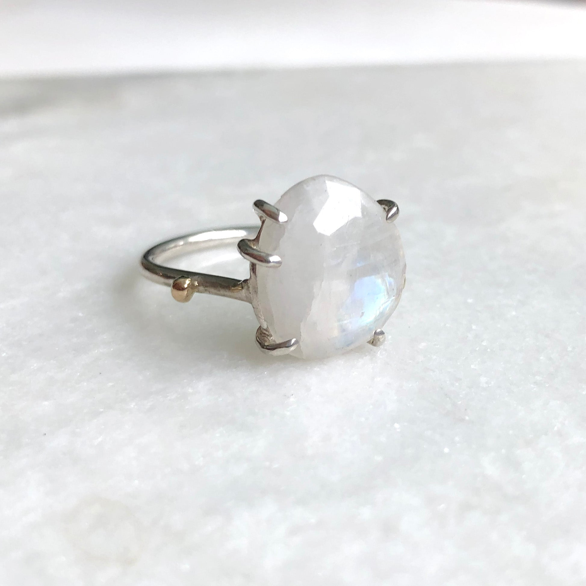 Ethereal Moonstone Ring // size 9-9.5