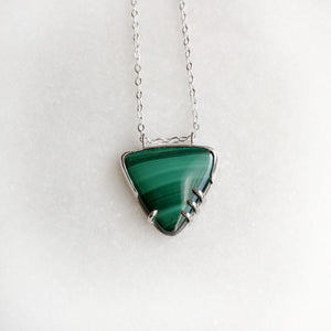 Malachite Necklace by Rockhaus Metals
