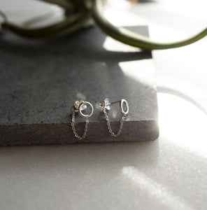 Orbital Chain Earring by Rockhaus Metals