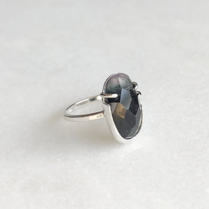 Purple and Blue Rose Cut Tourmaline Ring by Rockhaus Metals