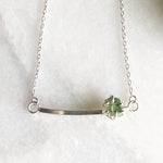 Raw Green Tourmaline Necklace by Rockhaus Metals