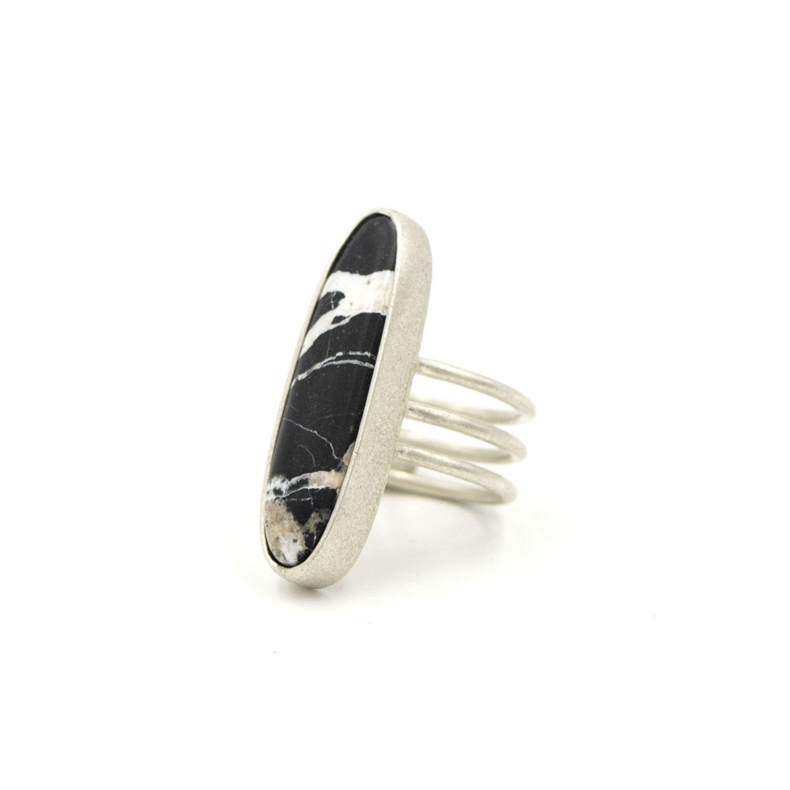 White Buffalo Statement Ring by Rockhaus Metals