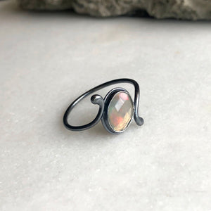 Rose Cut Opal Ring by Rockhaus Metals