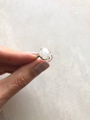 Moonstone Ring // size 5.5-6