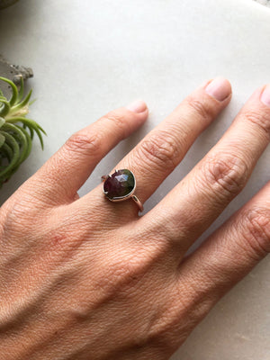 Rose Cut Tourmaline Ring by Rockhaus Metals