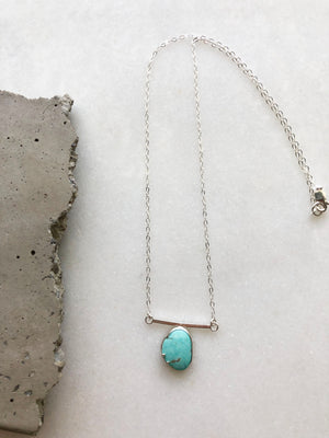 Turquoise Bar Necklace by Rockhaus Metals