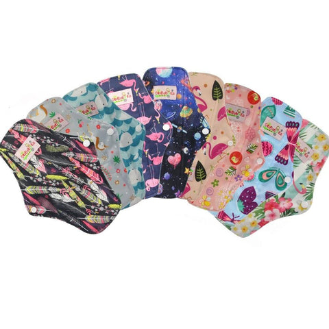 Set of 6 Reusable Sanitary Pads - ecoimpakt.com