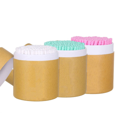 Bamboo Colored and Shaped Cotton Swabs 200 pcs - ecoimpakt.com