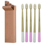 Pink & White Bamboo Toothbrushes Family Pack - ecoimpakt.com