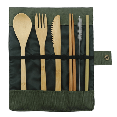 Bamboo Utensils Lunch kit - ecoimpakt.com