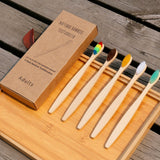 10-Pack of Bamboo Toothbrushes - ecoimpakt.com