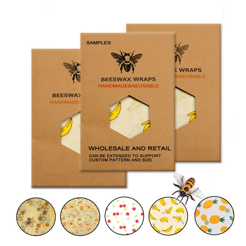 Reusable Beeswax Food Wraps Set - ecoimpakt.com