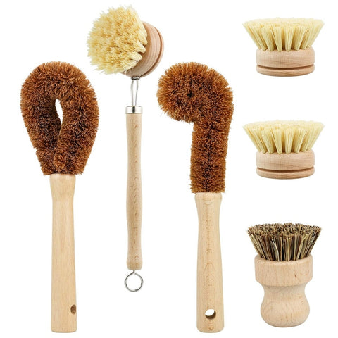 Zero Waste Cleaning Brushes Kit - ecoimpakt.com