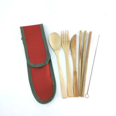 Bamboo Travel Utensils Set - ecoimpakt.com