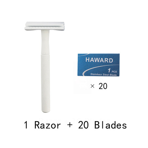 White Matte Safety Razor - Ecoimpakt