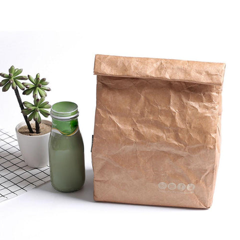 Reusable Kraft Paper Lunch Bag - ecoimpakt.com