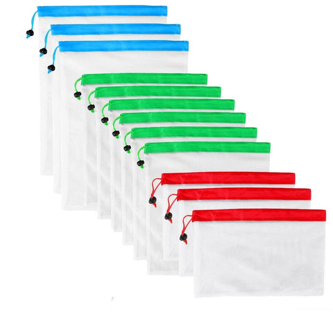 12 pcs Reusable Silicone Food Storage Bags - ecoimpakt.com