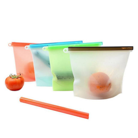 Reusable Resealable Food storage bags - ecoimpakt.com