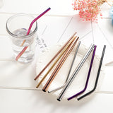 Stainless steel drinking straws kit - ecoimpakt.com