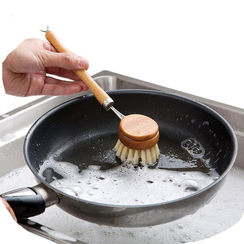 Long Handle Wooden Dishwashing Brush - ecoimpakt.com