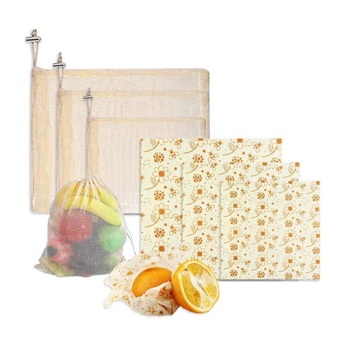 Zero Waste Groceries & Food wrap kit - ecoimpakt.com