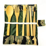 Bamboo Lunch Utensils kit with Toothbrush - ecoimpakt.com