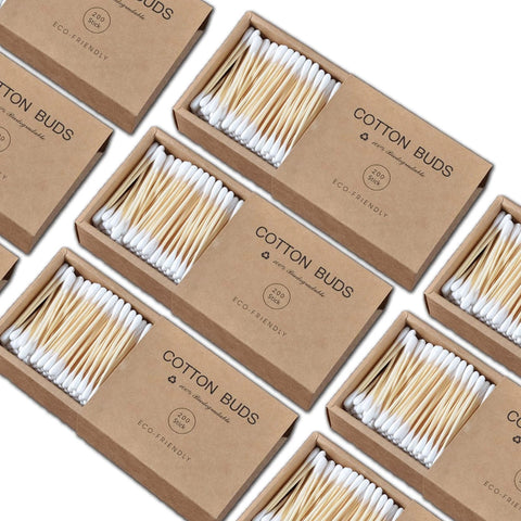 Zero Waste Set Bamboo Cotton Swabs 2000 pcs - ecoimpakt.com