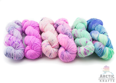 Hand dyed yarn kits