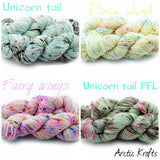 Unicorn tail worsted