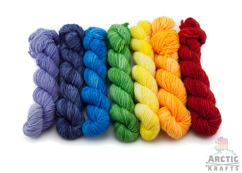 Rainbow, 7 mini skeins.