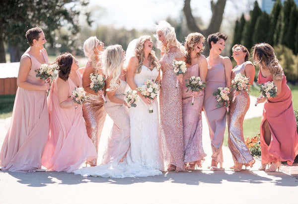 The key to picking the perfect bridesmaids dresses.