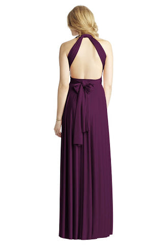 Backless Halter Maxi Dress