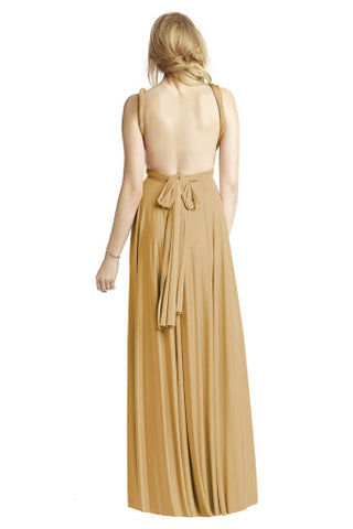 Backless Maxi Dress with Twist Straps