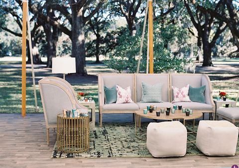 Seating areas for backyard weddings