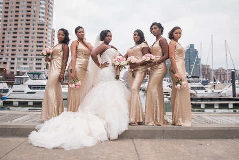 Bridesmaids posing for a photo