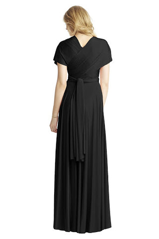 Cap Sleeves Maxi Dress