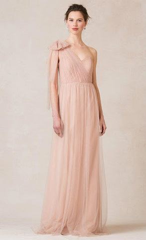 Draped on One Shoulder Maxi Dress