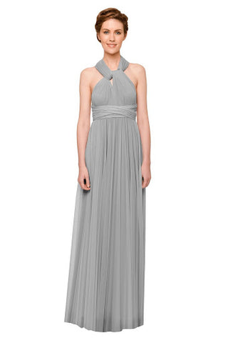 Front Neck Halter Maxi Dress