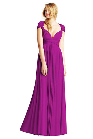 Knotted Cap Sleeves Maxi Dress