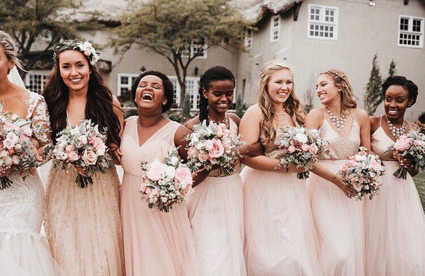 How to mix and match bridesmaids dresses.